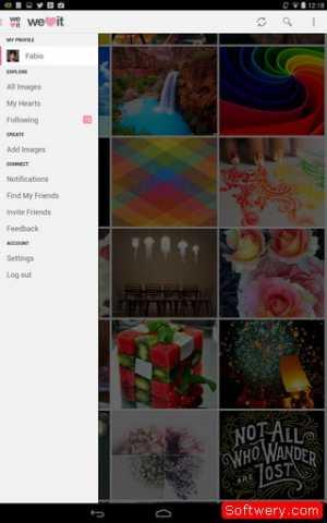 تحميل تطبيق We Heart It لتبادل الصور اندرويد